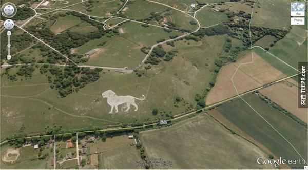 14.) 一隻巨型的獅子 (51.848637, -0.55462) 鄧斯特布爾LU6 2LD,英國