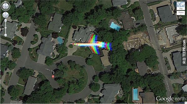 25.) 這個彩虹飛機 – 凱茜露台州 Englewood Cliffs,新澤西州,美國