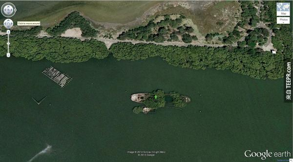 7.) 長滿樹失事的 SS Ayrfield 戰船 (-33.836379, 151.080506) 霍姆布什灣,悉尼,澳大利亞