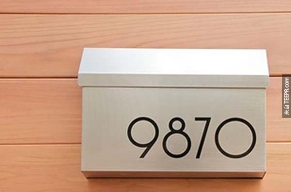 22.) 把門排的字體變得更時尚。