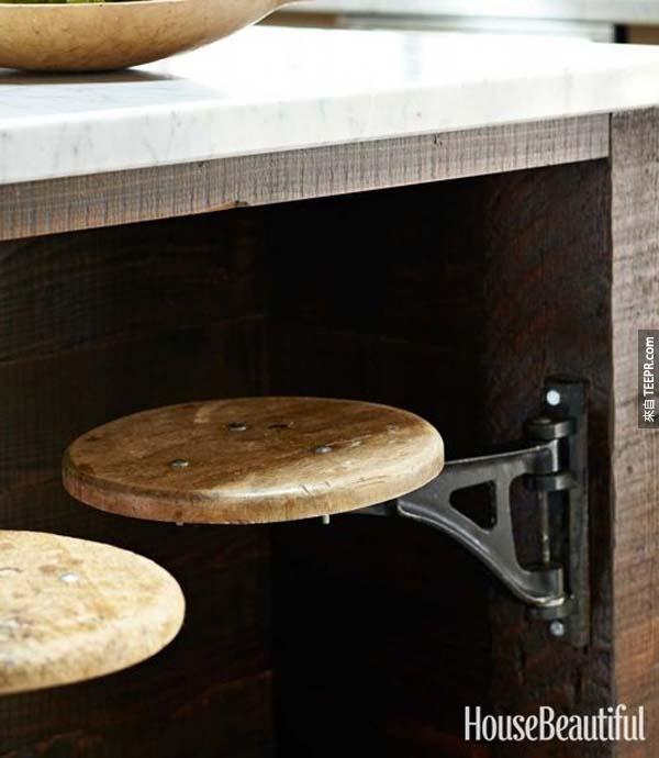 29.) 可收納式凳子。我家裡超需要!