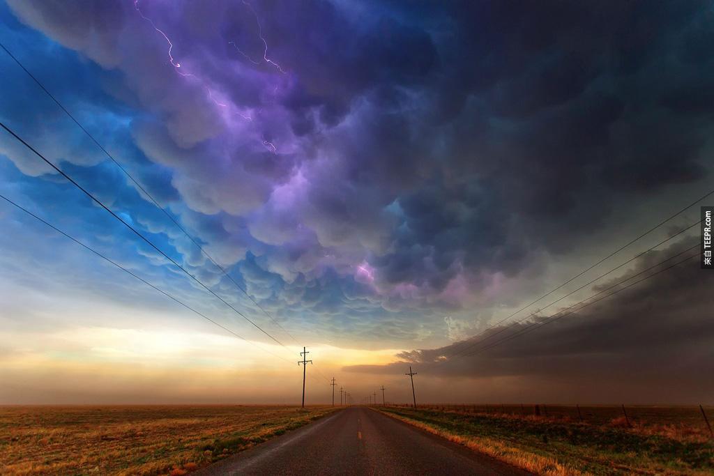德州的雷雨風暴。