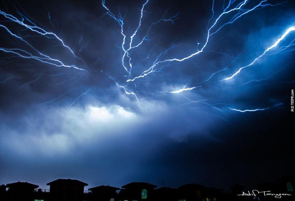 一場完美的雷電風暴。