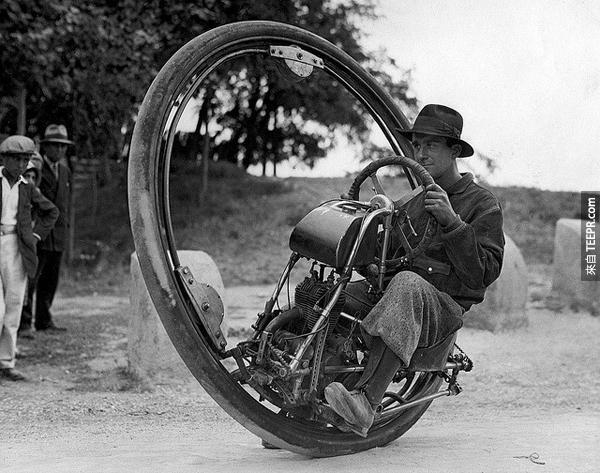 1.) 單輪摩托車