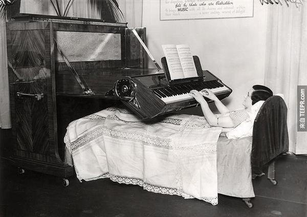 15.) 給癱瘓人士的鋼琴。