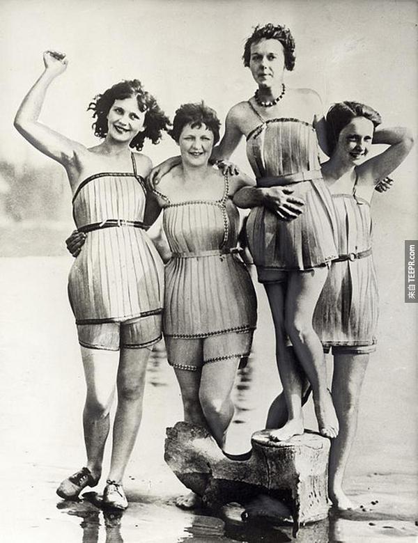 8.) 木頭游泳衣