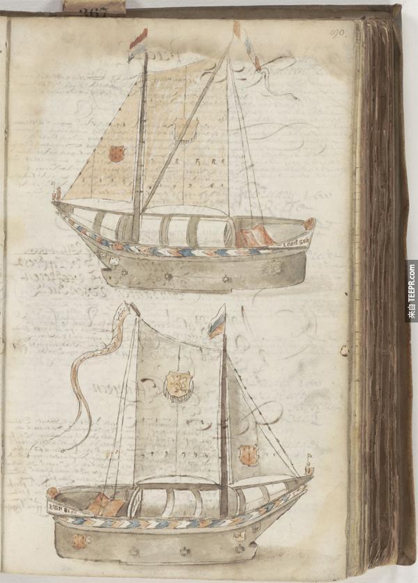 9.) 一個可以行駛在冰上的冰船 (為了防備冰世紀)。溜冰船?!