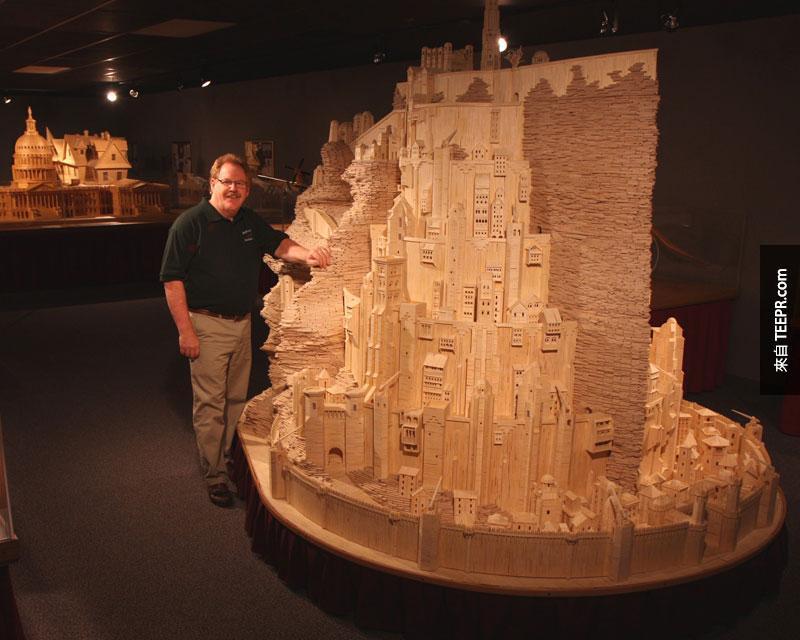 這名男子用420,000根火柴做出來的東西真的是太極端了。但是我家裡也很想要有一個。