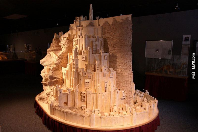 minas tirith made from matchsticks by pat acton matchstick marvels (6)