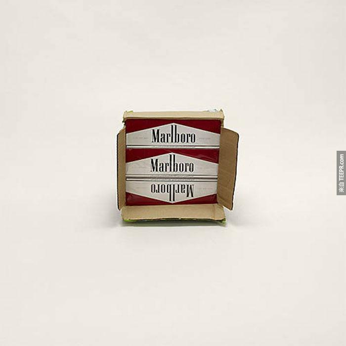 八箱萬寶路香煙  (攜帶者不肯付香煙稅)