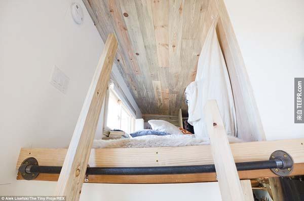 房子裡的二樓就是臥室。
