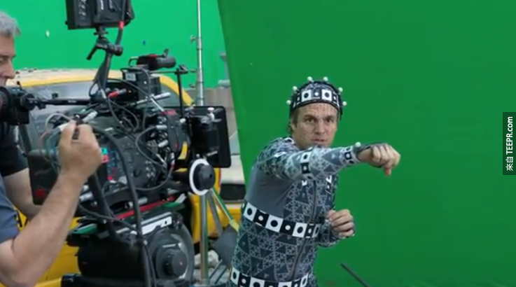 Mark Ruffalo wore this suit to make the Hulk's movements look natural.