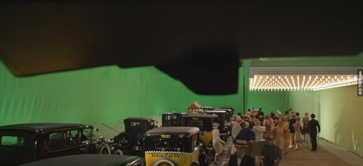 好萊塢的電影場景還沒有加特效前原來是長這樣子?我一點都不感覺被騙了...因為太棒了!