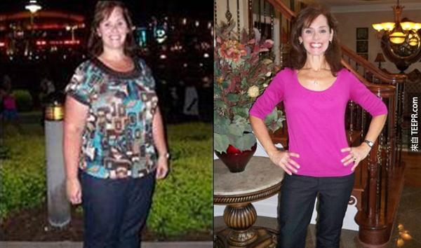 這10名女性每位都整整減掉一個人的重量。之前跟之後的照片真的好不可思議!