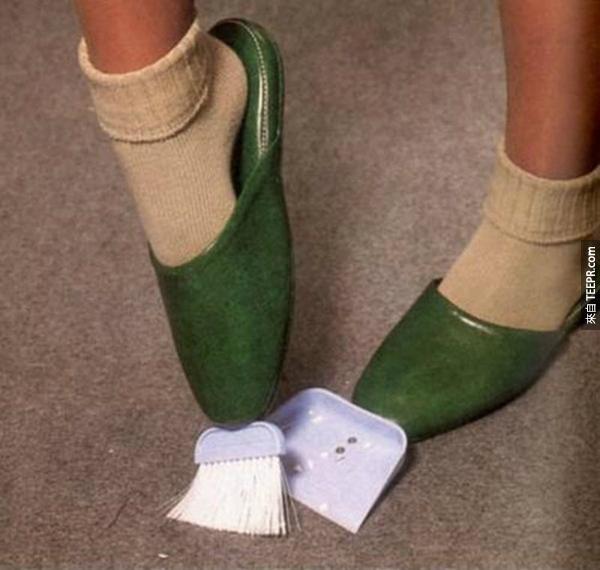 11.) 不用掃把了。只要穿的個掃把鞋就好了!