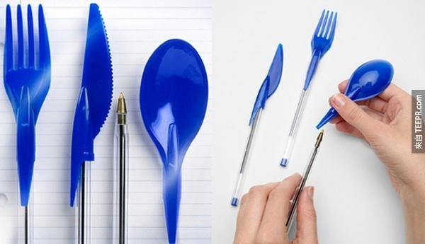 4.) 需要寫字但是也需要吃東西?沒問題!
