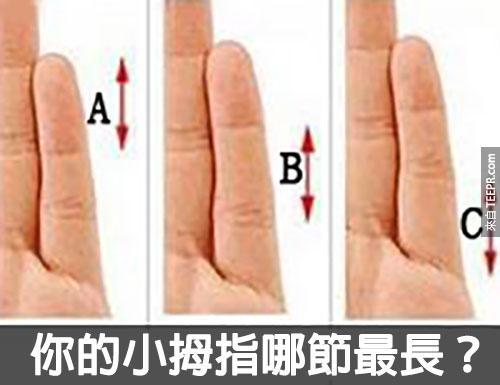 小拇指哪節最長
