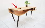 對,這張桌子是很漂亮,但是它有一個更棒的功用。(提示: 你家的貓咪會瘋狂地愛上!)