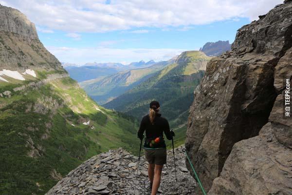 13.) Highline Trail (USA):這是Glacier國家公園首要的登山之道。你可以從Going to the Sun 路上的Logan Pass起程再往北部走,接著從Continental Divide到Fifty Mountain Campground,距離大概是20英里。