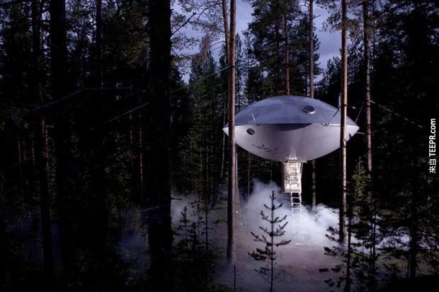 不,這不是一個不明飛行物降落......這是一個家!非常巧妙的設計,是不是?