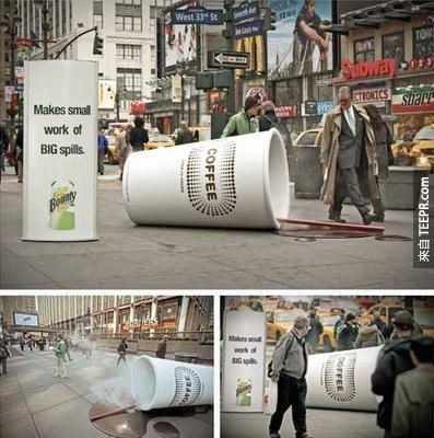 Bounty 除用紙巾 – 打翻咖啡廣告