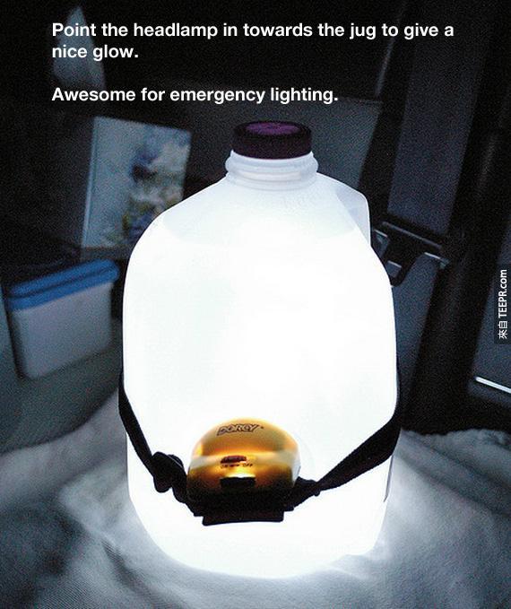 29.使燈輸出的水壺和一個頭燈