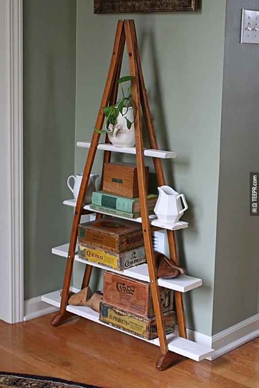 10. 拐杖变成书架。