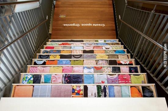 宜家Ikea的樓梯衣櫃