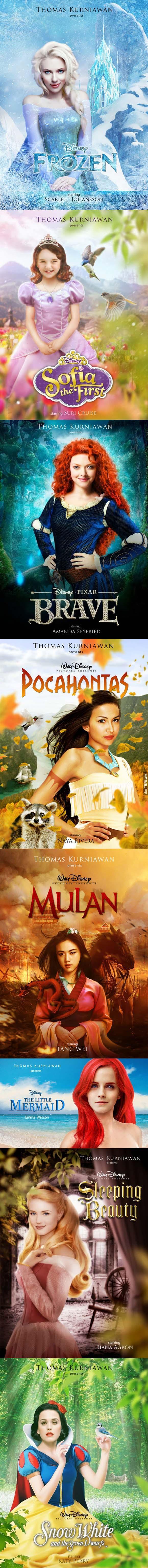 當好萊塢最美的女明星變成我們最喜歡的迪士尼女主角。這根本就是夢想成真!我每一部想看!