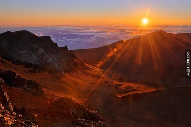 Haleakala山,夏威夷
