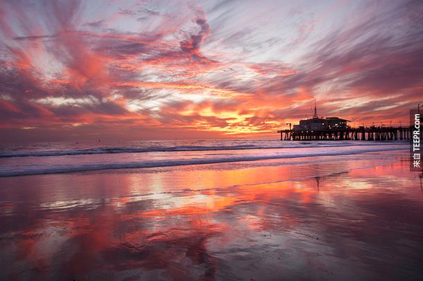聖塔莫尼卡碼頭,加州