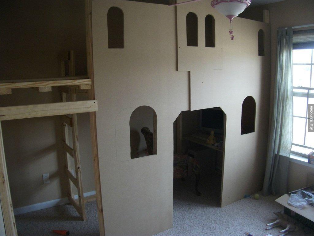 這原本是一間小女孩的房間,但是你一定要看看她的爸爸把它改裝成什麼樣子...哇賽!