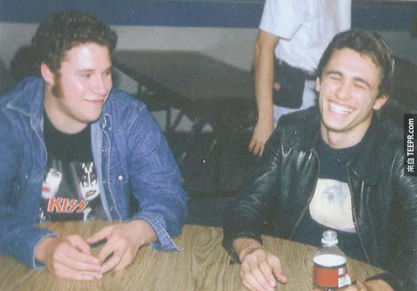 20.) 塞斯‧羅根和詹姆斯·弗蘭科 - 從年輕的時候就是好朋友了。