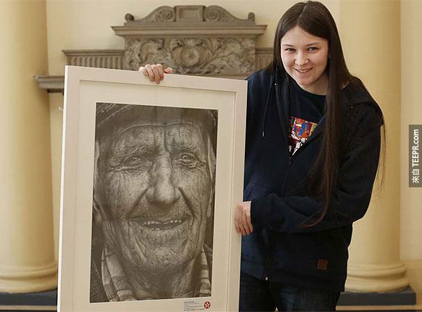 取得  Texaco 儿童绘画的冠军的Shania得到了6万快台币为奖金 ($2075美金)。