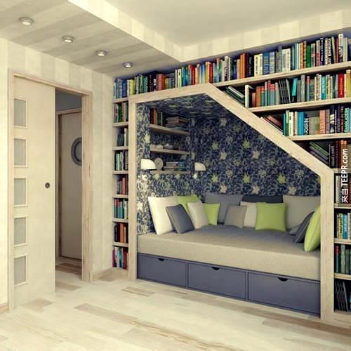 這個空間根本就是用來長期閱讀的嘛!