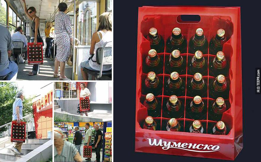 24. 嘉士伯啤酒 Shumensko: 酒箱袋