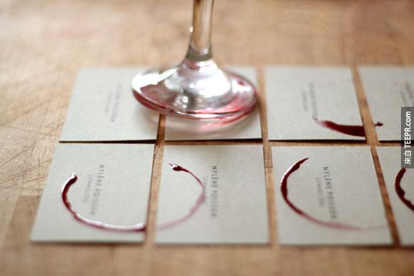 16. Sommelière 紅酒杯名片