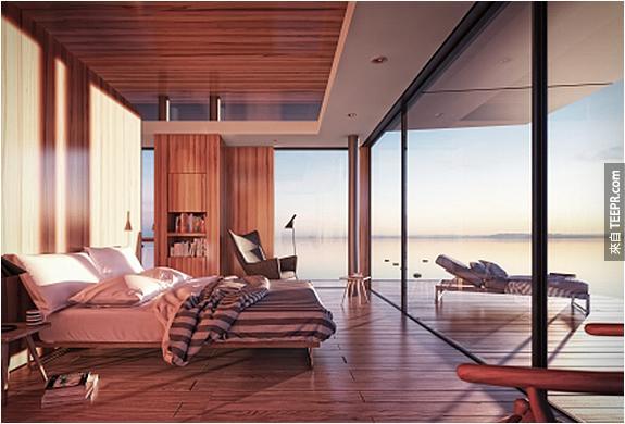 這名設計師被請去蓋一棟漂浮在海上的建築。你看了之後一定會想要存錢買下這棟房子。