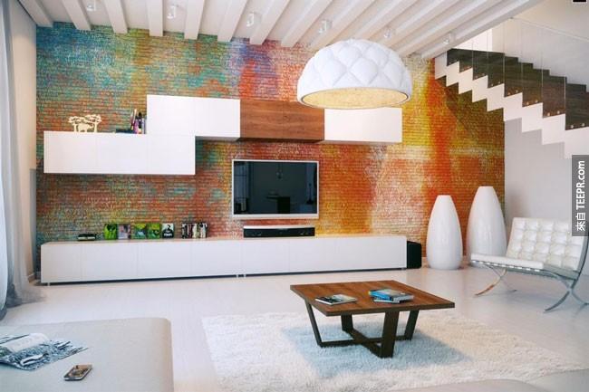 28. 雖然沒有戶外奇景,但是牆壁上的彩色磁磚真的很有味道。