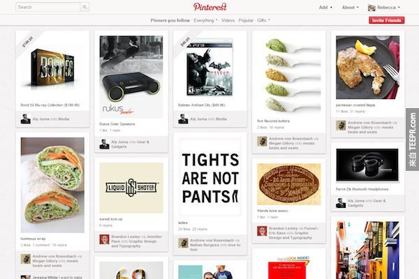 Pinterest 的用戶每分鐘都貼 (Pin) 3,472張圖片。