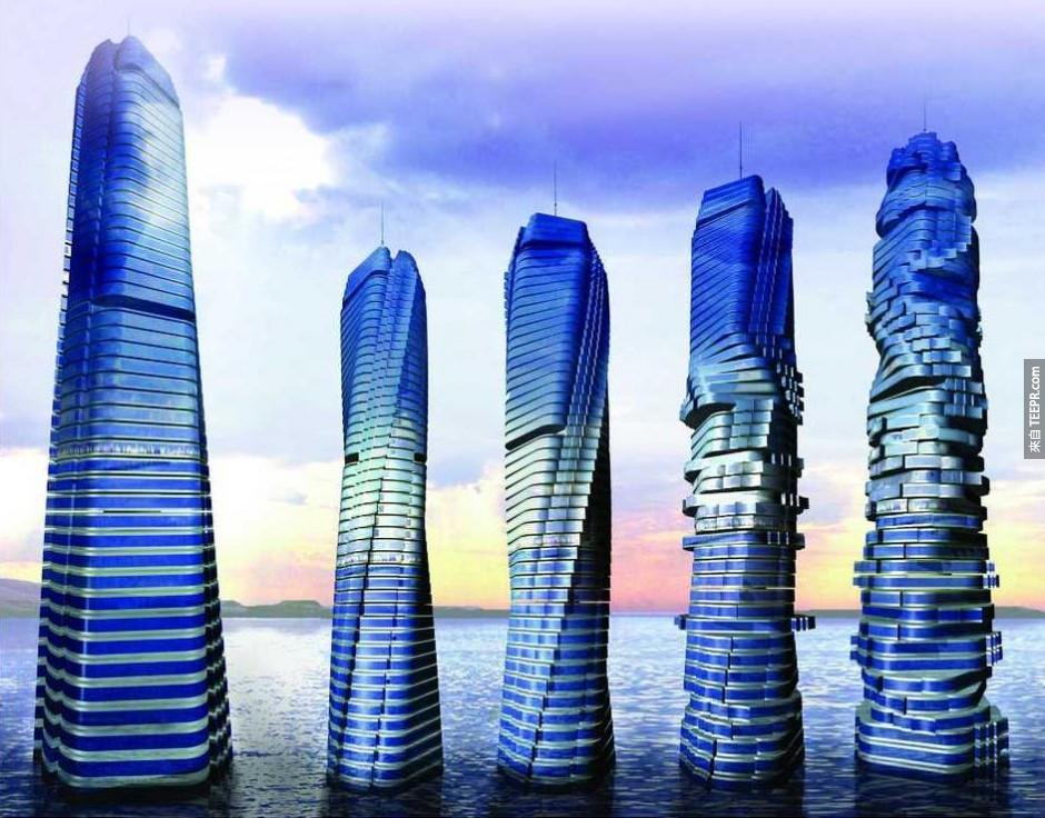 10)動態大廈 - 迪拜