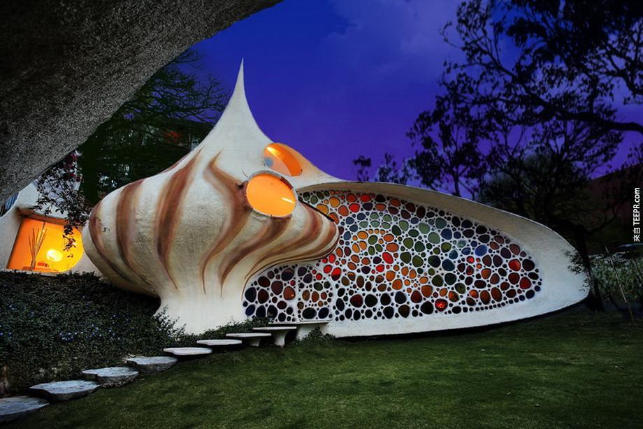 22)鸚鵡螺房屋 - 墨西哥城,墨西哥