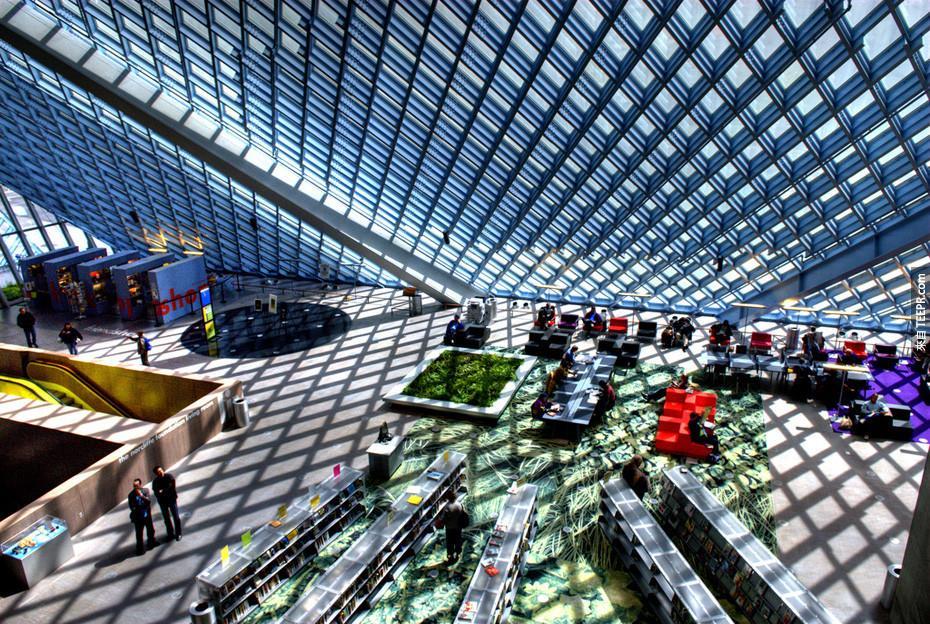 24),西雅圖中央圖書館 - 西雅圖,華盛頓