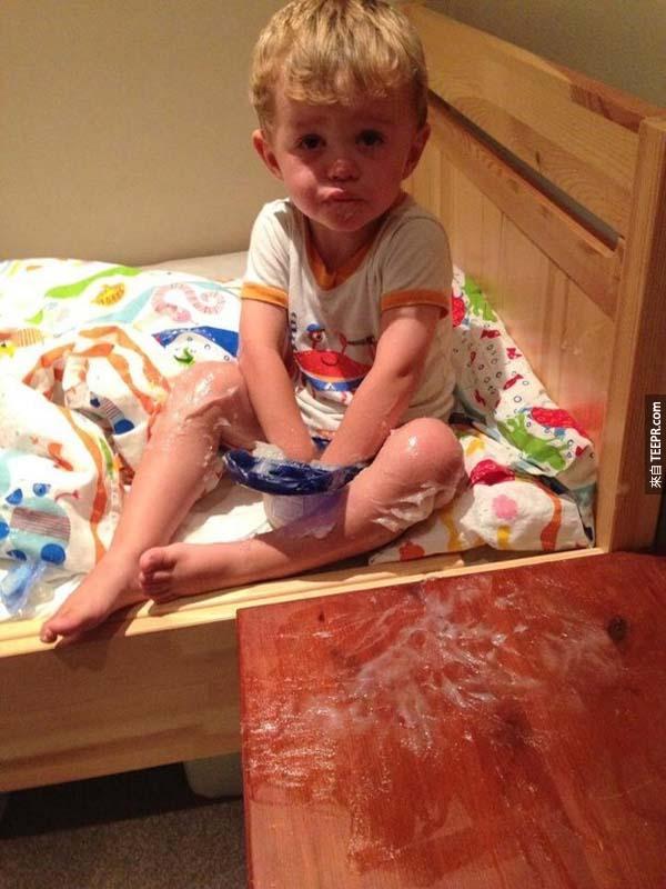 17張「噩夢」照片證明當爸媽是全世界最難的工作。