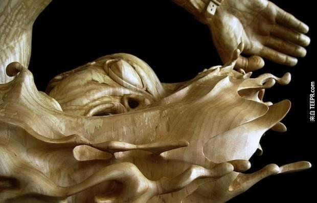 這名藝術家把一二三木頭人變成真的了。真的太細膩了!