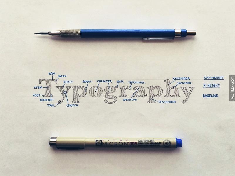 這個人的手寫技巧簡直就是藝術。他的28件作品會讓你鄙視你用電腦打出來的字。