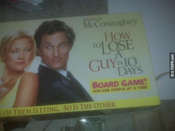 23.) 《絕配冤家》的桌上遊戲...可能玩到一半真的可以失去你的另一半呢...(分手的提示?)