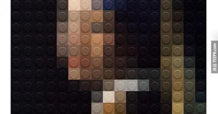 這名樂高藝術總監用樂高做出這6幅世界名作。你認得出來嗎?