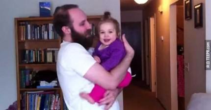 這個小女生只認得有鬍子的爸爸。當爸爸剃掉鬍子後,她的反應讓我哭笑不得。