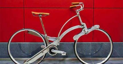 看起來像是一個普通的腳踏車對吧?不要被騙了!這真的太高明了!